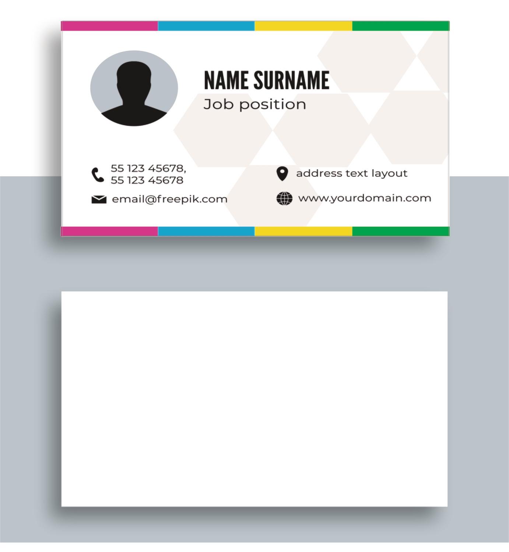 Односторонние визитки цветные