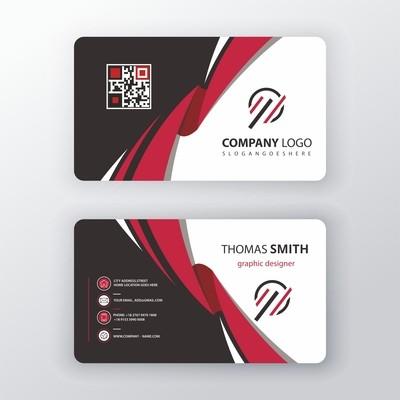 Пластиковые визитки цветные, 4+4, офсет