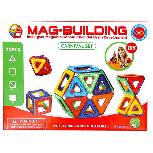 Магнитный конструктор Mag-Building, 20 деталей