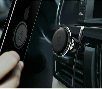 Автомобильный магнитный держатель Baseus Magnetic Air Vent Car Mount Holder with cable clip (SUGX-A01, SUGX-A0V)