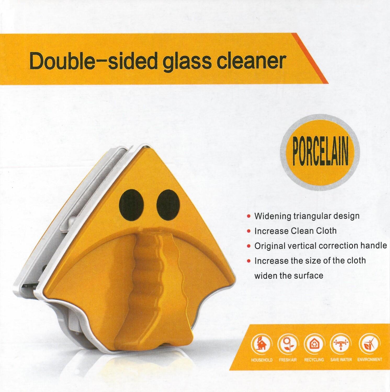 Магнитная щетка для мытья окон с двух сторон (премиум)