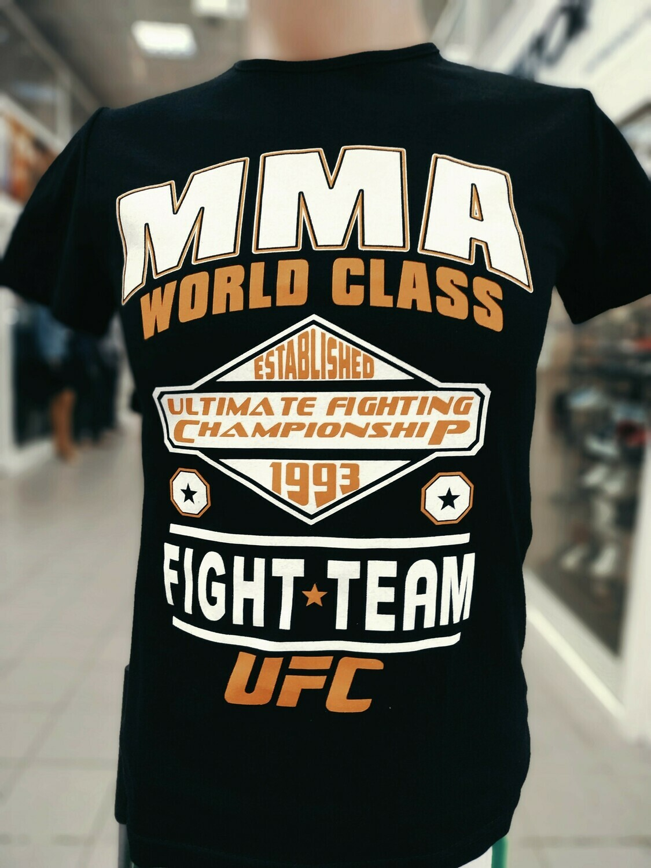 ФУТБОЛКА MMA UFC чёрная