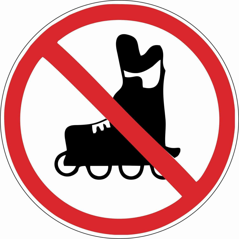 Наклейка Вход на роликах запрещен