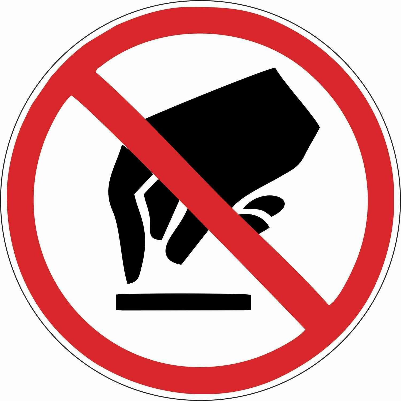 Наклейка Запрещается прикасаться, опасно