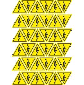 Наклейка Набор молний 50 мм., 36 шт.