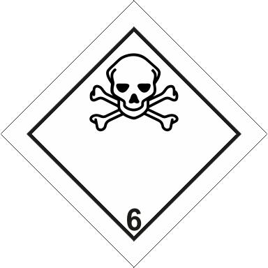 Наклейка Токсичные вещества