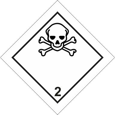Наклейка Токсичные газы