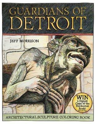 Guardians of Detroit: Architectural Sculpture Coloring Book