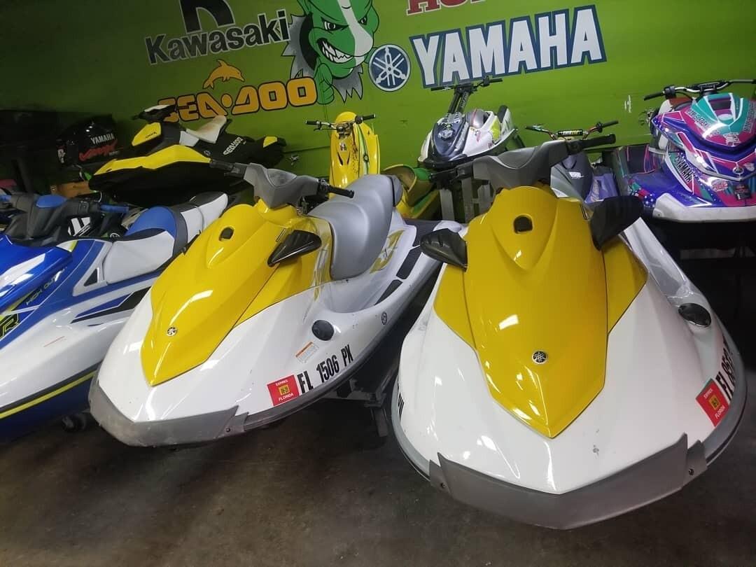 💥 SPECIAL !! SET OF JETSKIS W/ DOUBLE TRAILER  2015 Yamaha V1 Waverunner Jetski .Two unit in Stock ✔ 4 Stroke engine ✔ 3 seater ✔1100 cc ✔ 110 hp ✔ Reverse