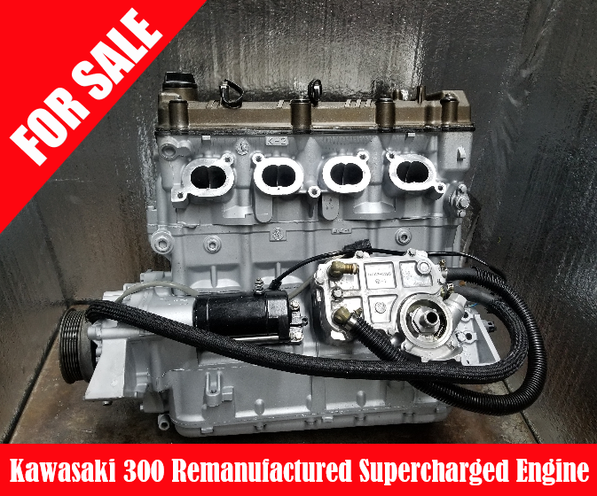 KAWASAKI 300 REMANUFACTURED ENGINE SUPERCHARGED