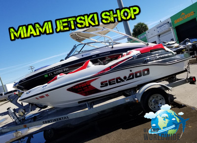 2007 Sea Doo Speedster Jetboat 215 Hp Supercharger Engine 1500 cc 4 Stroke Engine 6 passengers with trailer