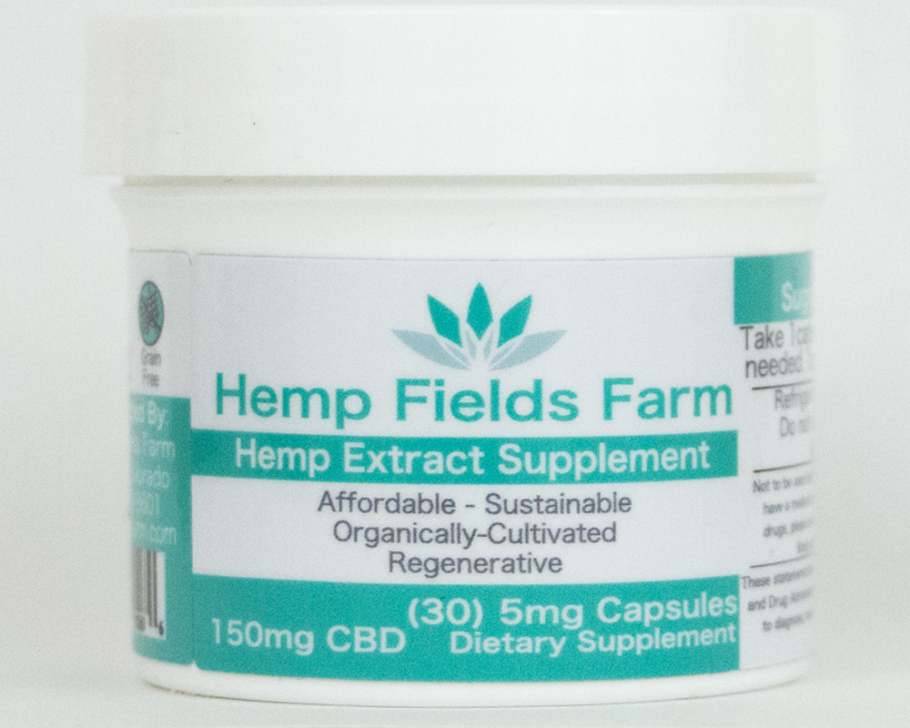 150mg Full-Spectrum CBD-Rich Hemp Extract Oil Capsules