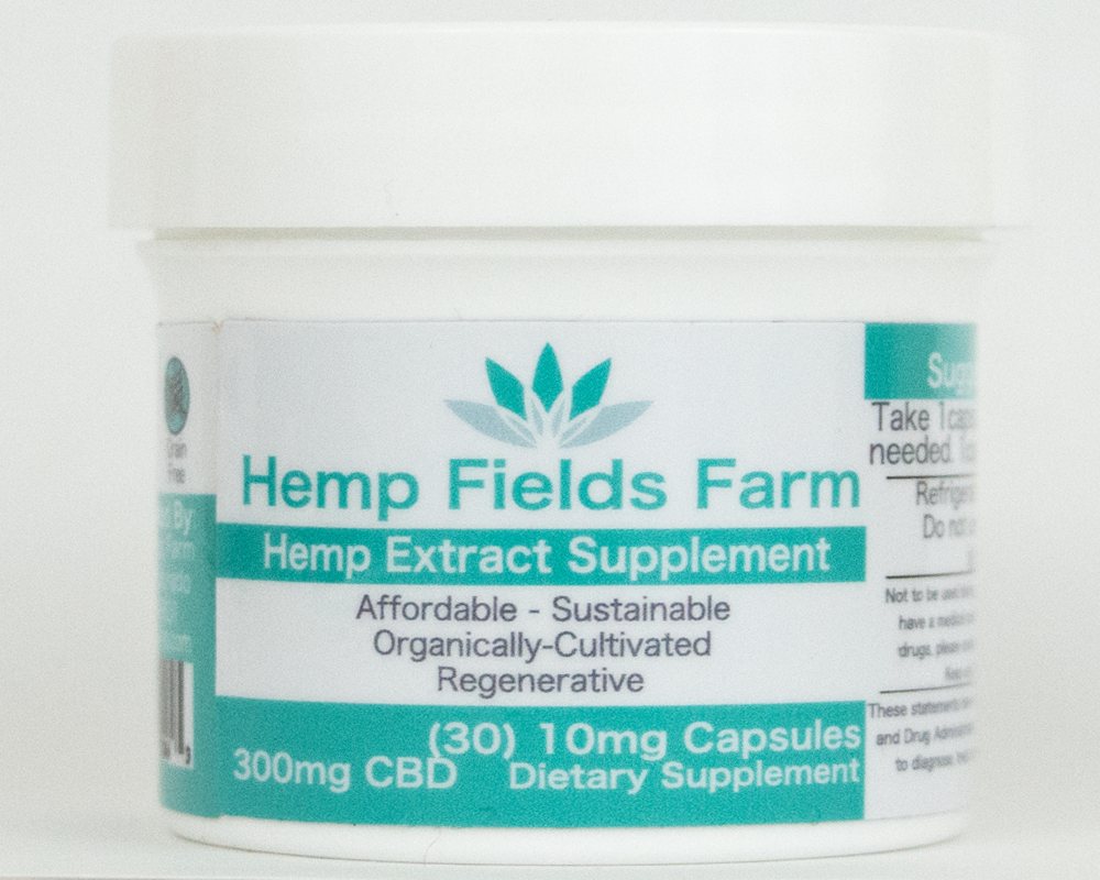 300mg Full-Spectrum CBD-Rich Hemp Extract Oil Capsules