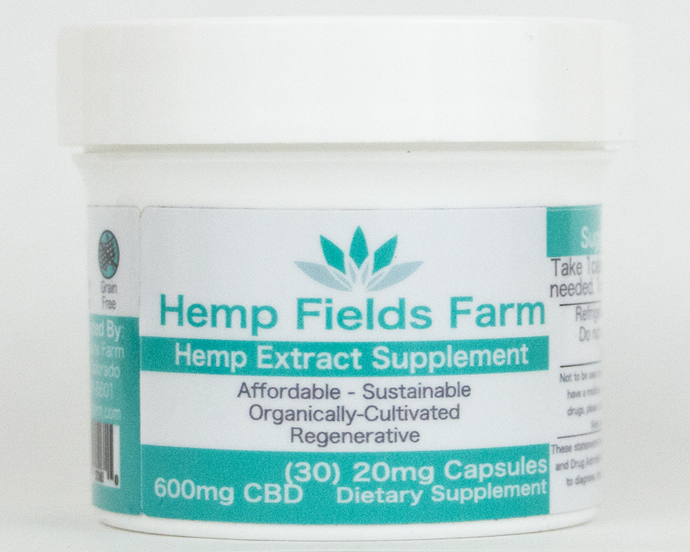 600mg Full-Spectrum CBD-Rich Hemp Extract Oil Capsules