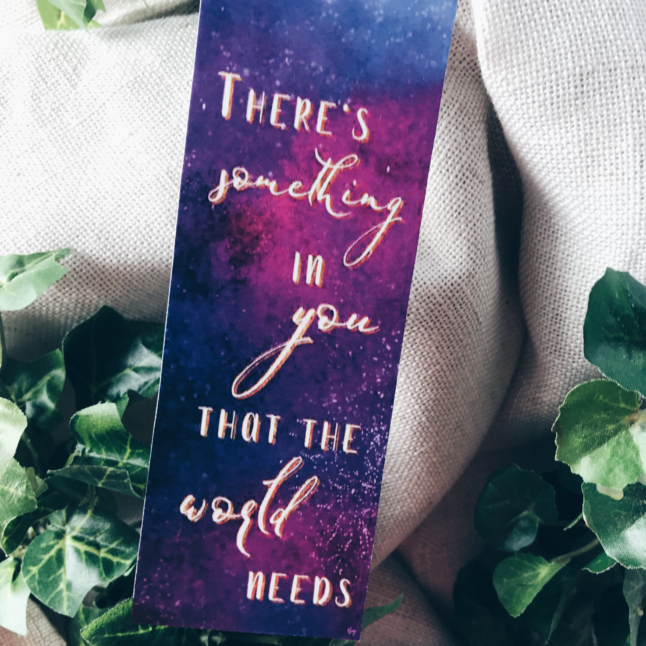 """""""There's something in you that the world needs"""""""