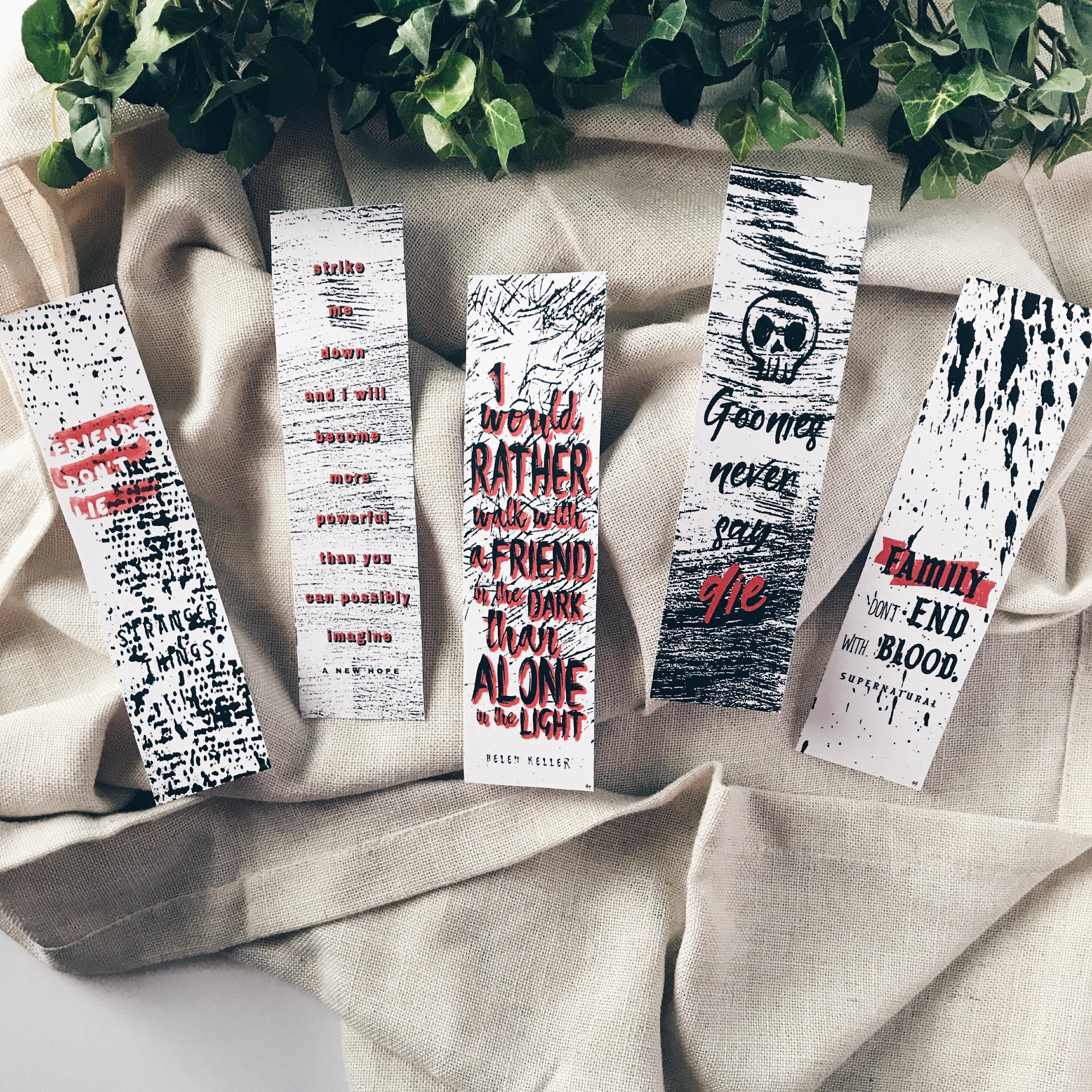 Red Grunge Bookmarks 122114-8