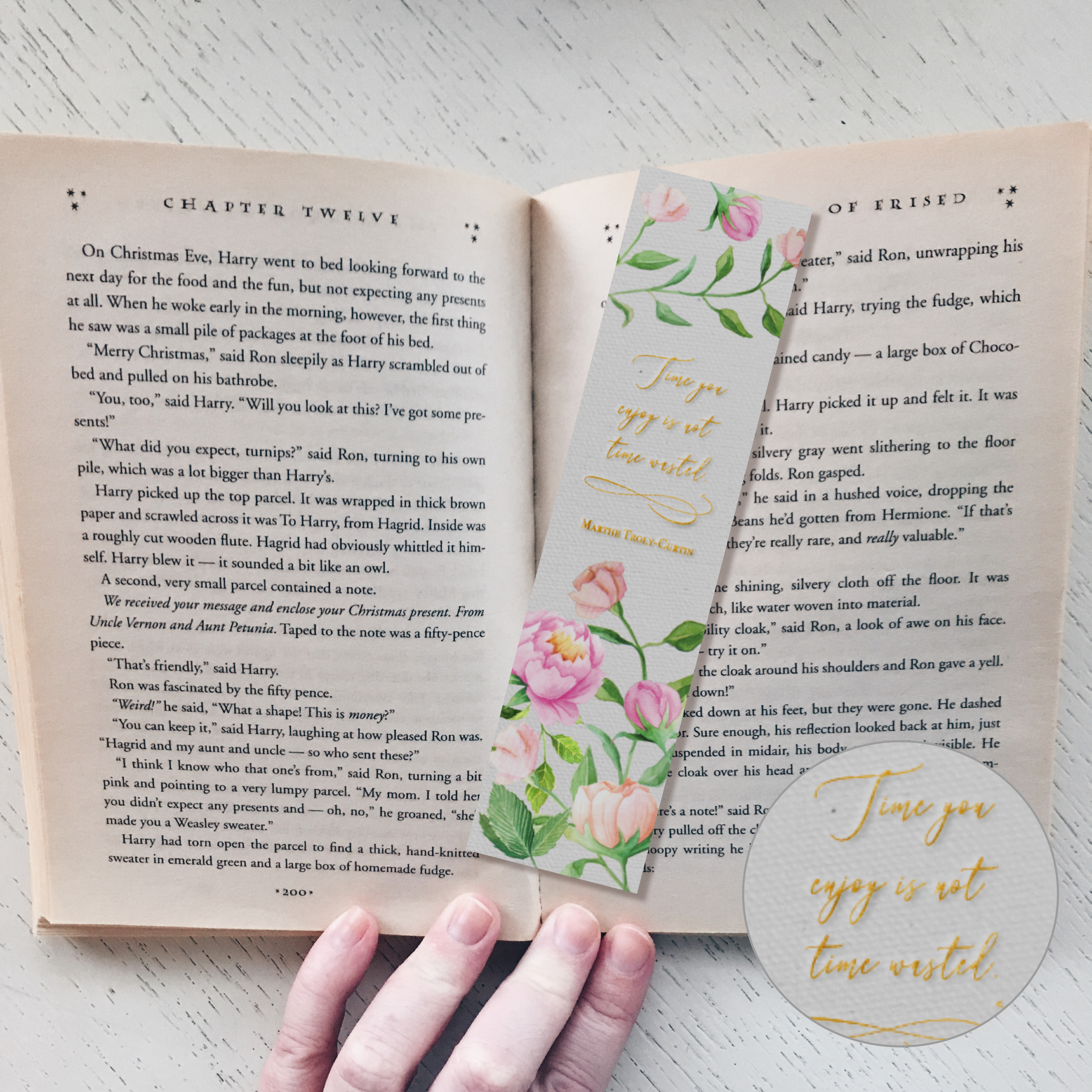 """""""Time Not Wasted"""" Bookmark 122114-34"""