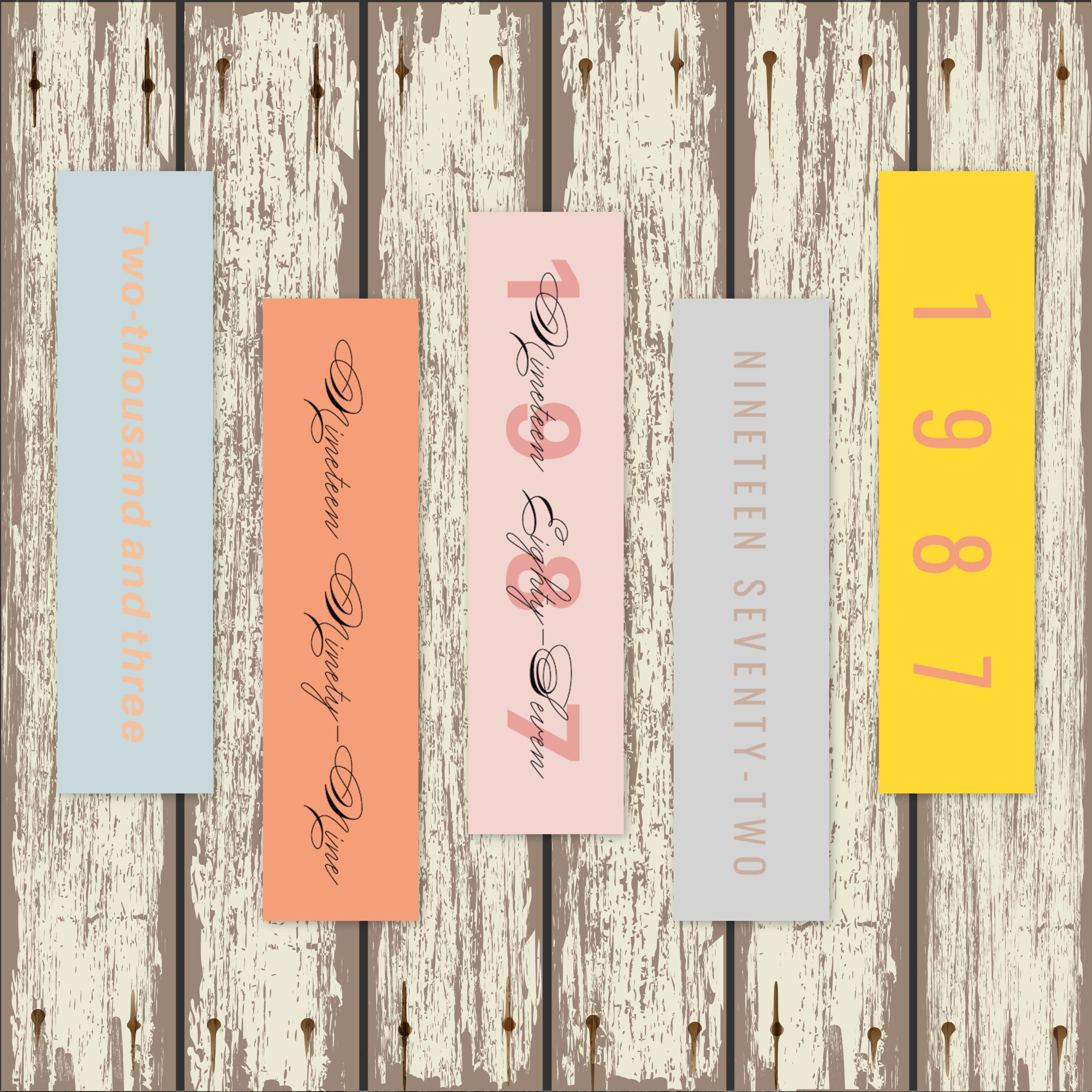 Custom Birth Year Bookmarks 122114-48