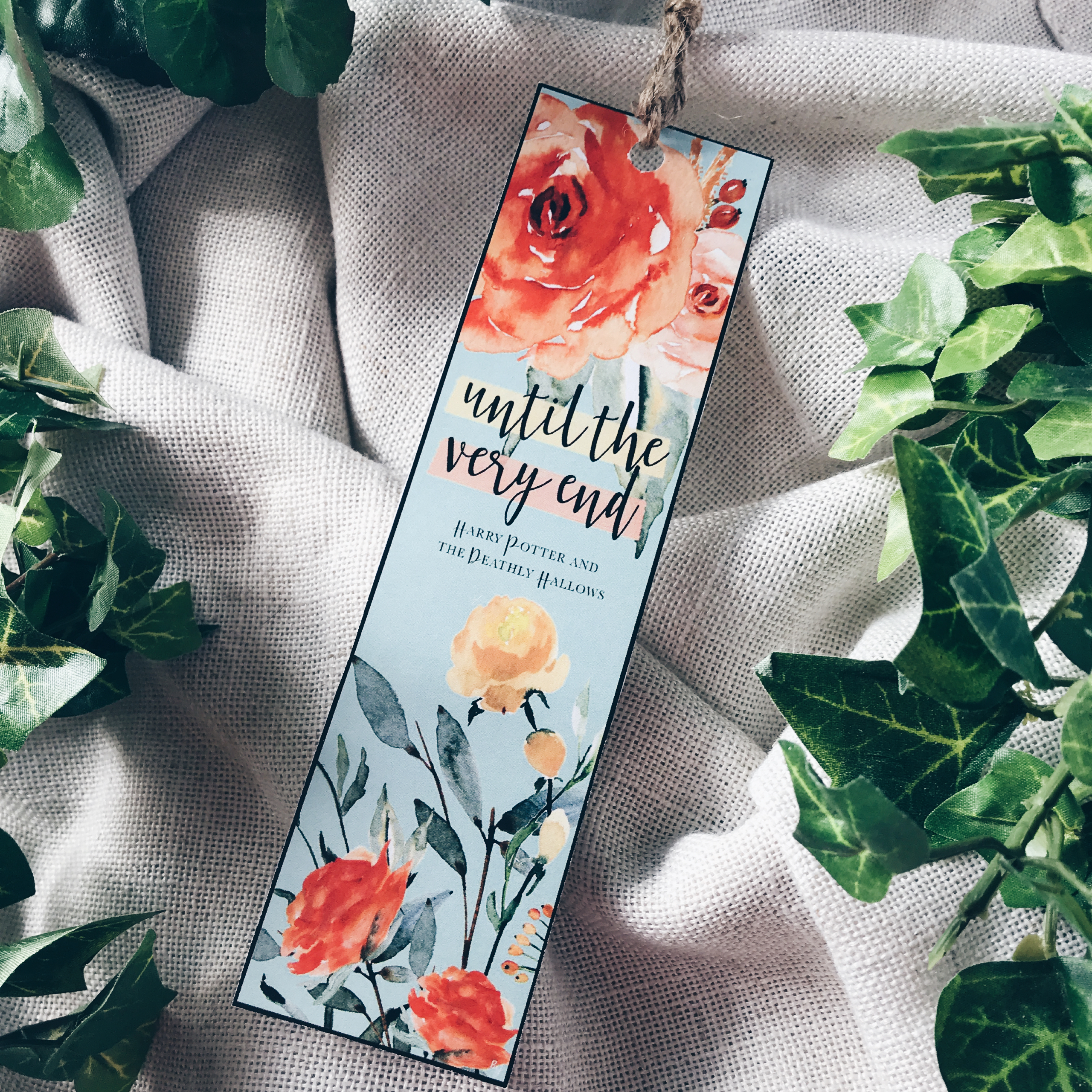 Floral Harry Potter Die Cut Bookmarks