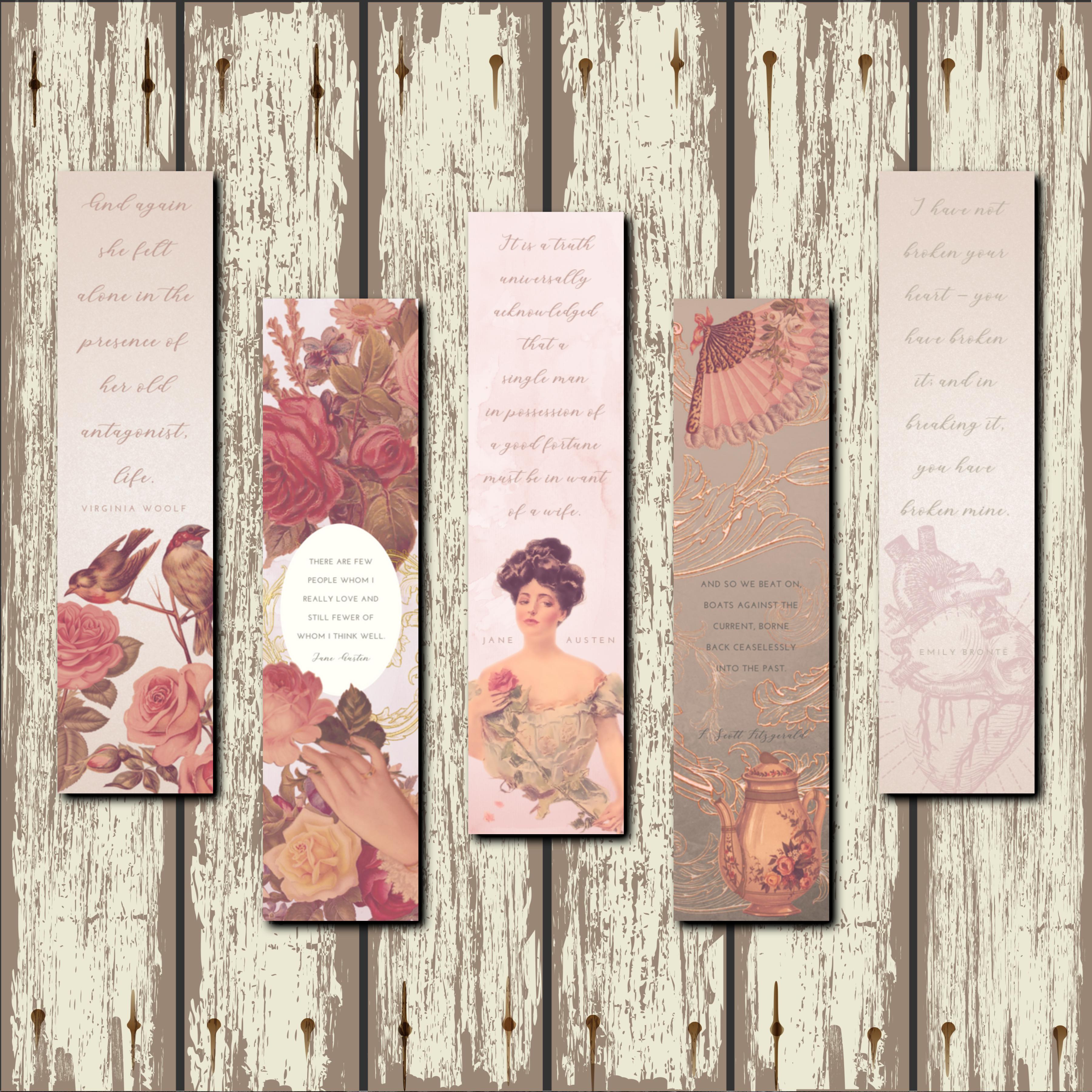 Vintage Feminine Bookmarks 00012