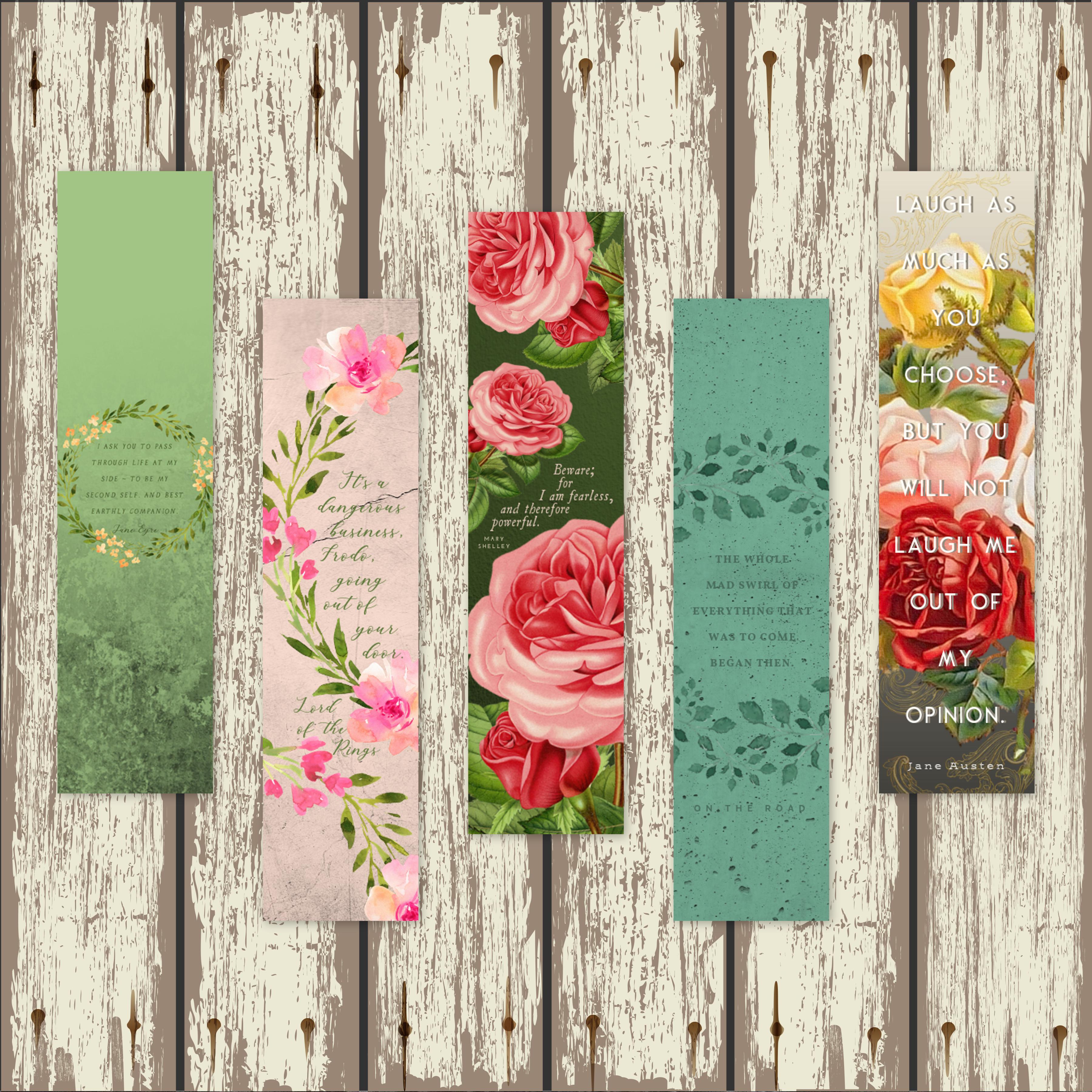 Floral Classics Bookmarks 00014