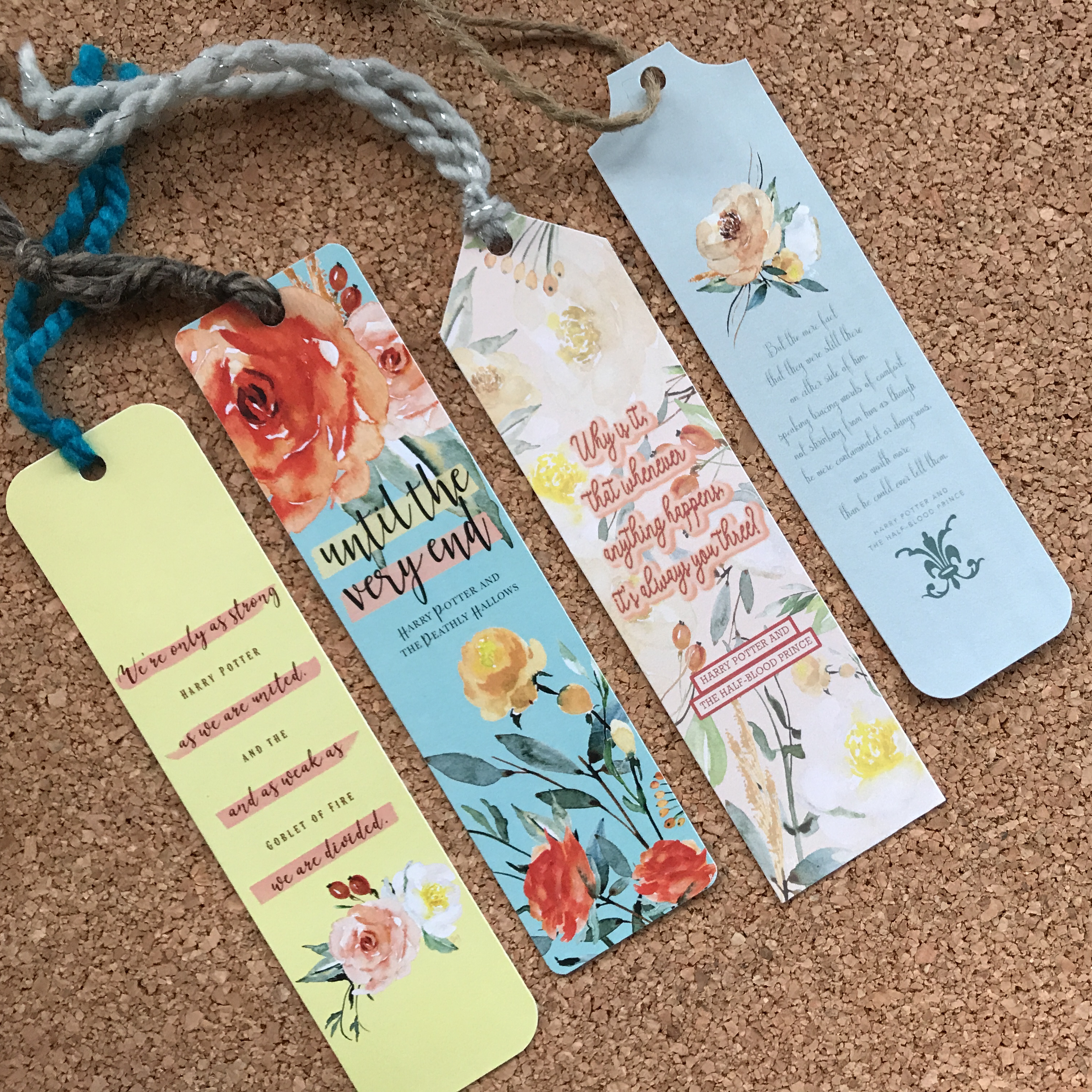 Floral Harry Potter Die Cut Bookmarks 122114-10