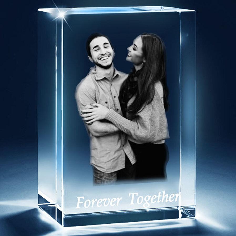 Rectangular 3D Photo Crystal Gift - Medium