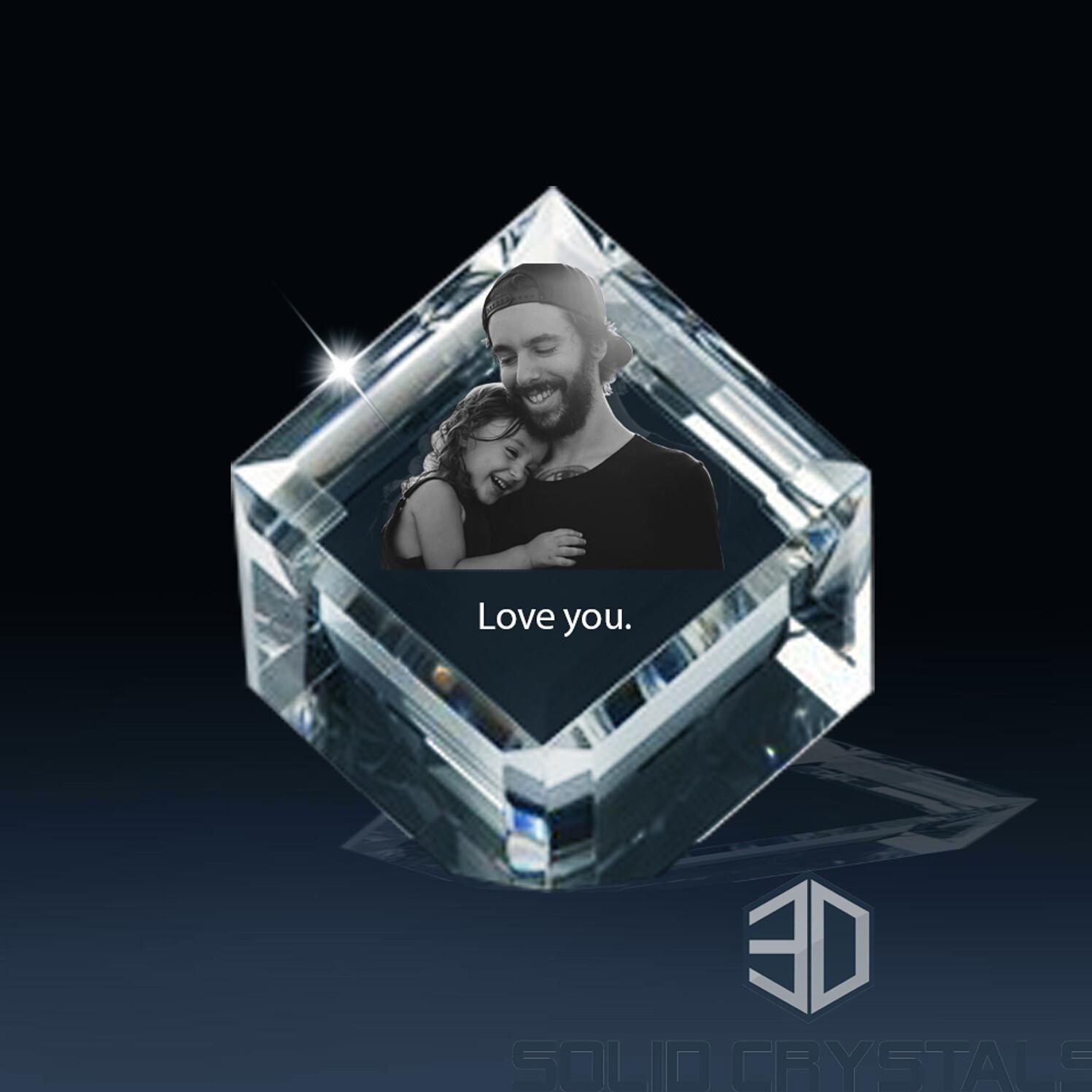 Diamond Photo Crystal - Large - 3D