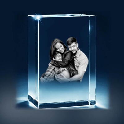 3D Picture Glass Gift  with bevelled edge - 10cm x 8cm