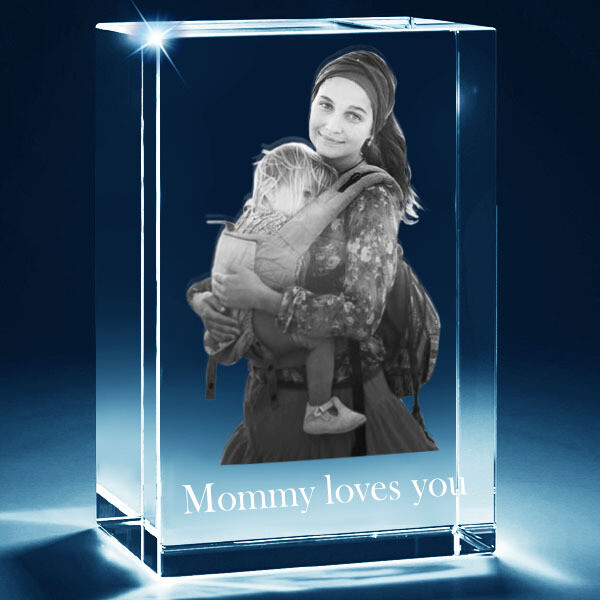 3D Photo in Glass Block - Large
