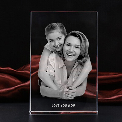 Picture Glass Block - Portrait Photo Crystal – Large