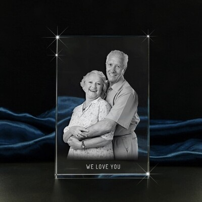 Memorial Portrait Photo Crystal Gift  – Large