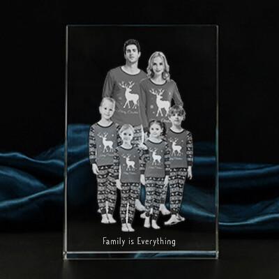 Personalised Christmas Photo Crystal Gift  – Large