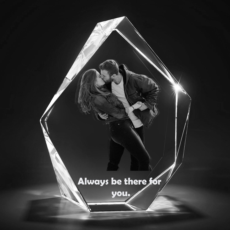 3D Photo Crystal Block - Bespoke Prestige -  Large