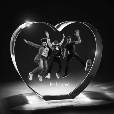 Heart Photo Crystal Gift