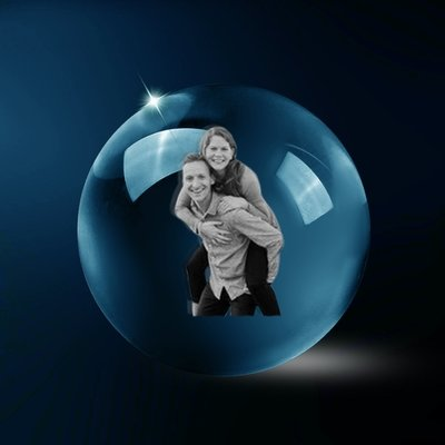Personalised Laser Etched Photo Glass Crystal Ball