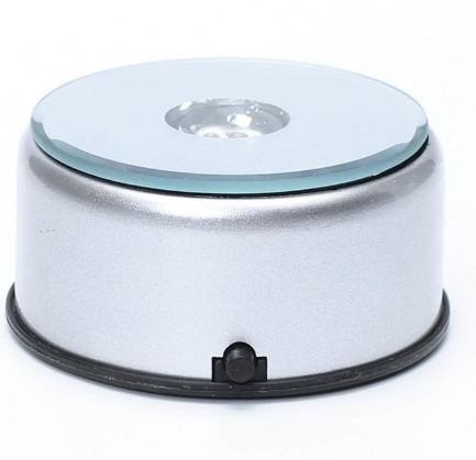 Crystal LED Light Base - Rotating Light Base -Battery or Mains Operated