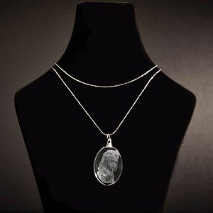 Oval Photo Crystal Pendant