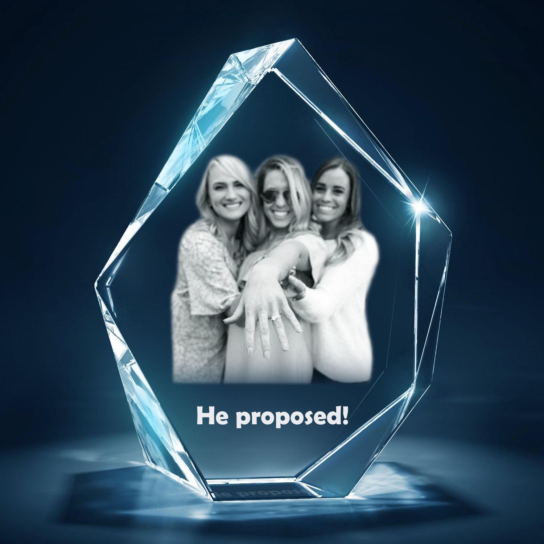 Bespoke Prestige - Picture Glass Block in 2D -  Large
