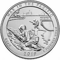 США 25 центов, 2019г. 48-й Национальный монумент воинской доблести в Тихом океане