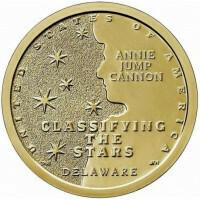 США 1 доллар, 2019 год. Американские Инновации - Классификация звезд, астроном Энни Кэннон