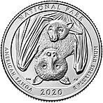 США 25 центов, 2019г. 51-й Национальный парк Американского Самоа
