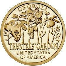 США 1 доллар, 2019 год. Американские Инновации - Джорджия. Попечительские сады.