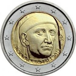 2 евро Италия 2013г. 700 лет со дня рождения Джованни Боккаччо