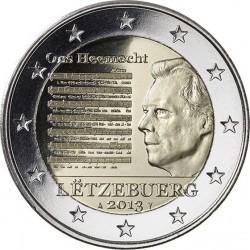 2 евро Люксембург 2013 г. Национальный гимн 00252