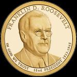 США 1 доллар, 2014 год. 32-й президент Франклин Рузвельт. 00259