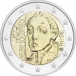 2 евро Финляндия 2012г. 150 лет со дня рождения художницы Хелены Шерфбек 00263