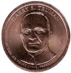 США 1 доллар, 2015 год. 33-й президент США. Гарри Трумэн.