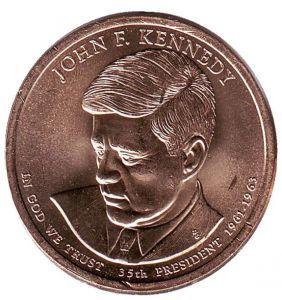 США 1 доллар, 2015 год. 35-й президент США. Джон Кеннеди. 00325