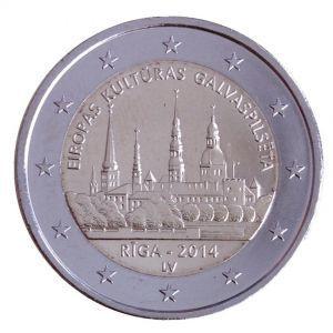 2 евро Латвия 2014 г. Рига - Культурная столица Европы 00258